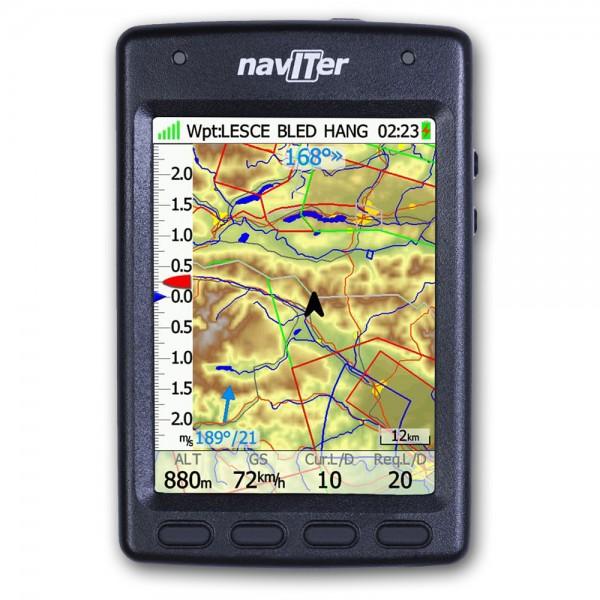 Naviter HYPER GPS-Variometer Frontansicht Karte