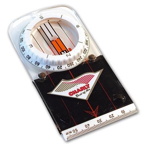 Hi168 - Charly PRECISION FLAT COMPASS with hook & loop tape